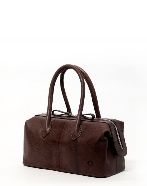 Oslu Lady Box Bag aus Leder Hera brown