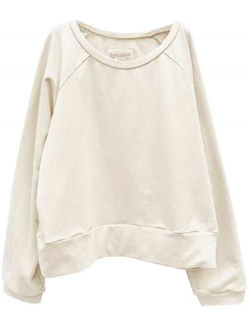 Hedda William Sweater Hanni Bio Baumwolle cream