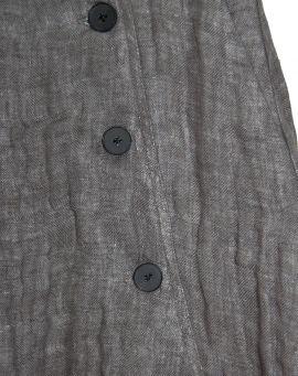 Aleksandr Manamis Baggy Leinen Hose BUTTON FRONT PANT magma grey