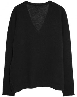 Umit Unal Strickpullover Wolle CHUNKY KNIT silver