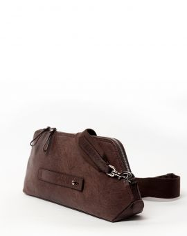Oslu Cross Body Clutch Bag aus Leder Jora brown