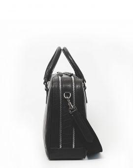 Oslu Business Laptop Bag aus Leder Pila black