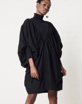 Merwe Salt Batwing Dress black