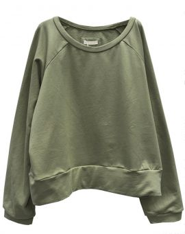 Not Shy Dip Dye Leinenstrick Poncho V-Sweater Maureen sable terre