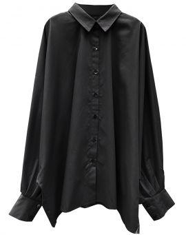 Hedda William Bat Wing Blouse Hedwig Bio Popelin black