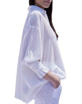 Not Shy Bluse Neue Flora blanc