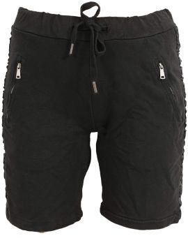 Les tricots de Lea Leinenstrick Kurzarm Poncho Sweater Myrisme noir