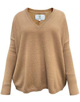 Les tricots de Lea Kaschmir Poncho Sweater Monjako camel