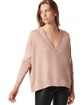 Majestic Filatures Deep V-Neck Sweaty Pullover Viskose soft pink
