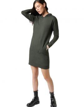 Majestic Filatures Sweat Kleid mit Kapuze graphite green
